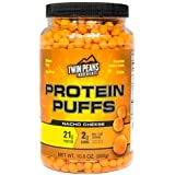 Twin Peaks Ingredients Protein Puffs - Nacho Cheese 300g (10 Servings), 21g Protein, 2g Carbs, 130 Cals, High Protein, Low Carb, Soy Free, Gluten Free, Potato Free - Best Protein Snack
