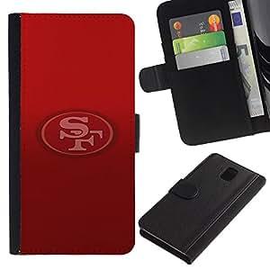 Stuss Case / Funda Carcasa PU de Cuero - SF Equipo - Samsung Galaxy Note 3 III