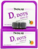 Twinlab Vitamin D3 Dots, 2000 IU, 100-Count