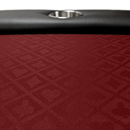 Brybelly 10 foot section of two tone poker table speed for 10 ft table cloth