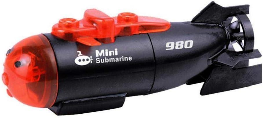 Heall Mini RC Submarino de Juguete a Distancia en Barco Nave de Control Electr/ónico Impermeable Barco del Salto Modelo de Simulaci/ón Piscina Juguetes para Ni/ños Submarine 1Ponga Negro