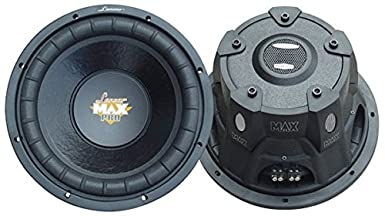 Lanzar 15in Car Subwoofer Speaker - Black Non-Pressed Paper Cone, Stamped  Steel Basket, Dual 4 Ohm Impedance, 2000 Watt Power and Foam Edge  Suspension