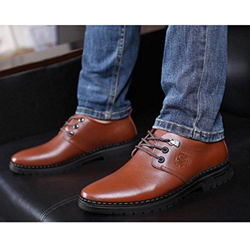 Formali Scarpe Lavoro in Pelle Lavoro Uomo da Antiscivolo Tempo Il da per da da Libero Brown Uomo Derby Stringate Scarpe rvq0Fr
