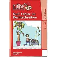 LÜK / Deutsch: LÜK: Null Fehler im Rechtschreiben 1: ab Klasse 3(Coverbild kann abweichen)
