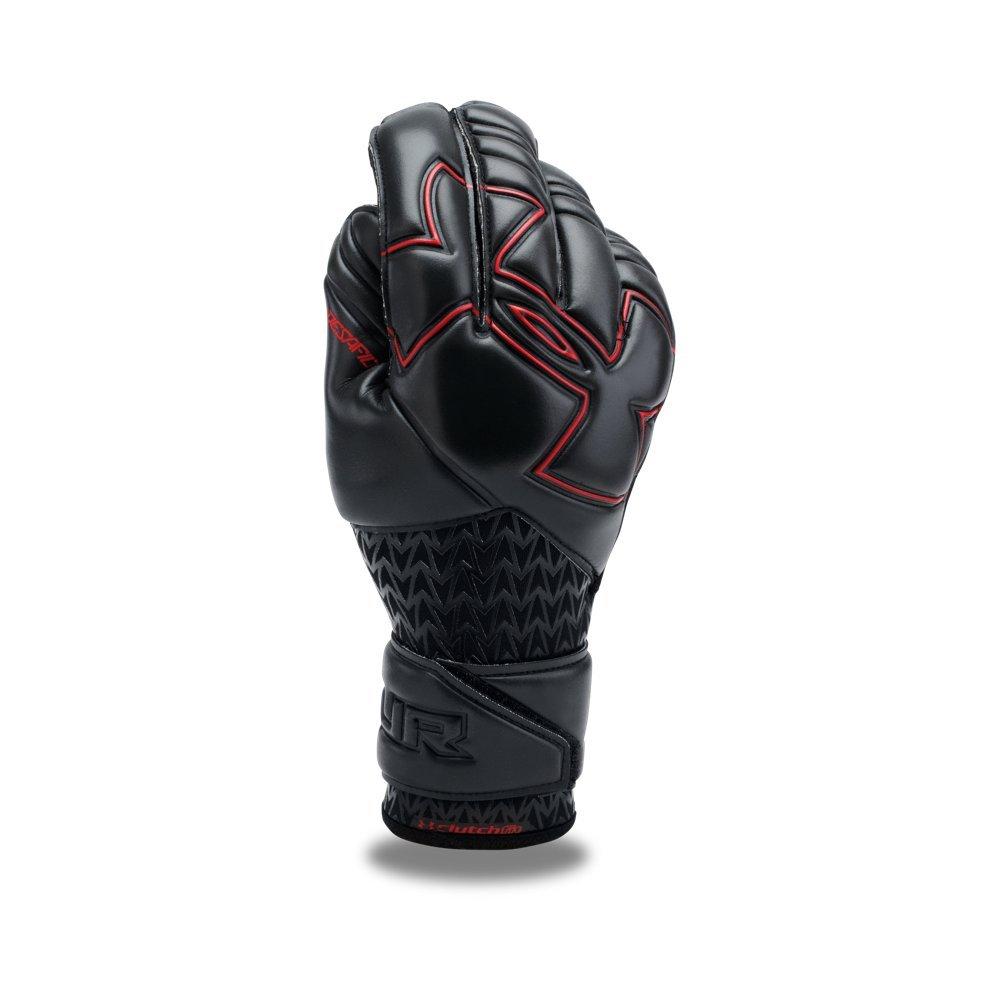 Under Armour Men's Desafio Pro Soccer Gloves, Black (001)/Black, 8