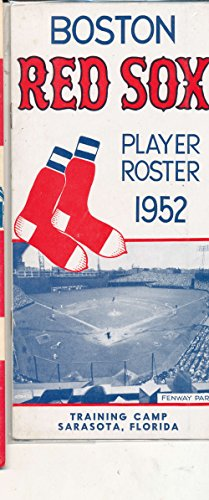 Red Boston Sox 1952 - 1952 Boston Red Sox spring training roster