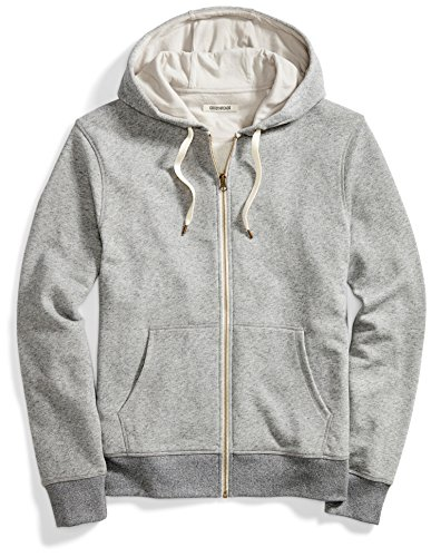 Hoodie Terry Cotton - Goodthreads Men's French Terry Full-Zip Hoodie, Medium Grey Heather, X-Large