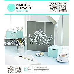 Martha Stewart Crafts Medium Stencils (8.75 by 9.75-Inch), 32255 Flourish (2 Sheets with 12 Designs)