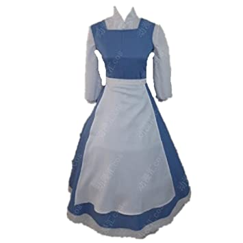 Beauty And The Beast Belle cosplay costume Princess Maid Dress Apron  sc 1 st  Amazon UK & Beauty And The Beast Belle cosplay costume Princess Maid Dress Apron ...