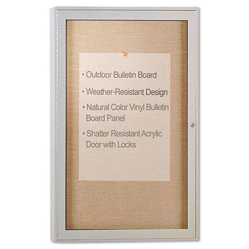 Ghent PA13624VX181 Enclosed Outdoor Bulletin Board, 36 x 24, Satin Finish