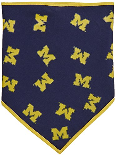 - Collegiate Michigan Wolverines Pet Bandana, Small  - New Design - Dog Bandana must-have for Birthdays, Parties, Sports Games etc..