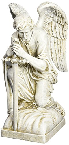 Joseph Studio 40007 Tall Male Angel Kneeling with Sword Garden Statue, 13.25-Inch Review