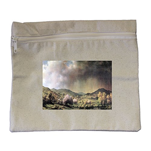 Spring Rain Valley Connecticut (Heade) Canvas Zippered Pouch Makeup Bag ()