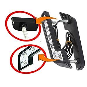 Zento Deals Universal 12v Daytime Running Light New 2X 6 LED White Car Driving Lamp