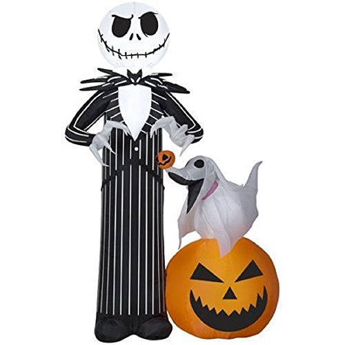 ghi Jack Skellington & His Dog Zero Disney Airblown Inflatable The Nightmare Before Christmas Holiday Decoration By Gemmy by ghi