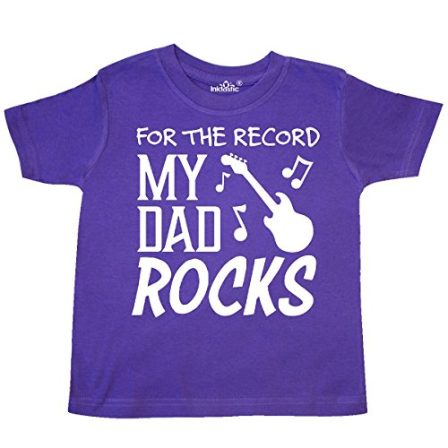 inktastic record, My Dad Rocks Toddler T-Shirt 3T (Dad Rocks Toddler T-shirt)