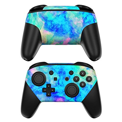 Electrify Ice Blue Decalgirl Skin Sticker Wrap Compatible with Nintendo Switch Pro Controller