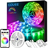 DreamColour LED Strip Lights, Govee 5M Music Sync Phone Controlled Lighting Strip Kit, Waterproof Colour Changing Rope…