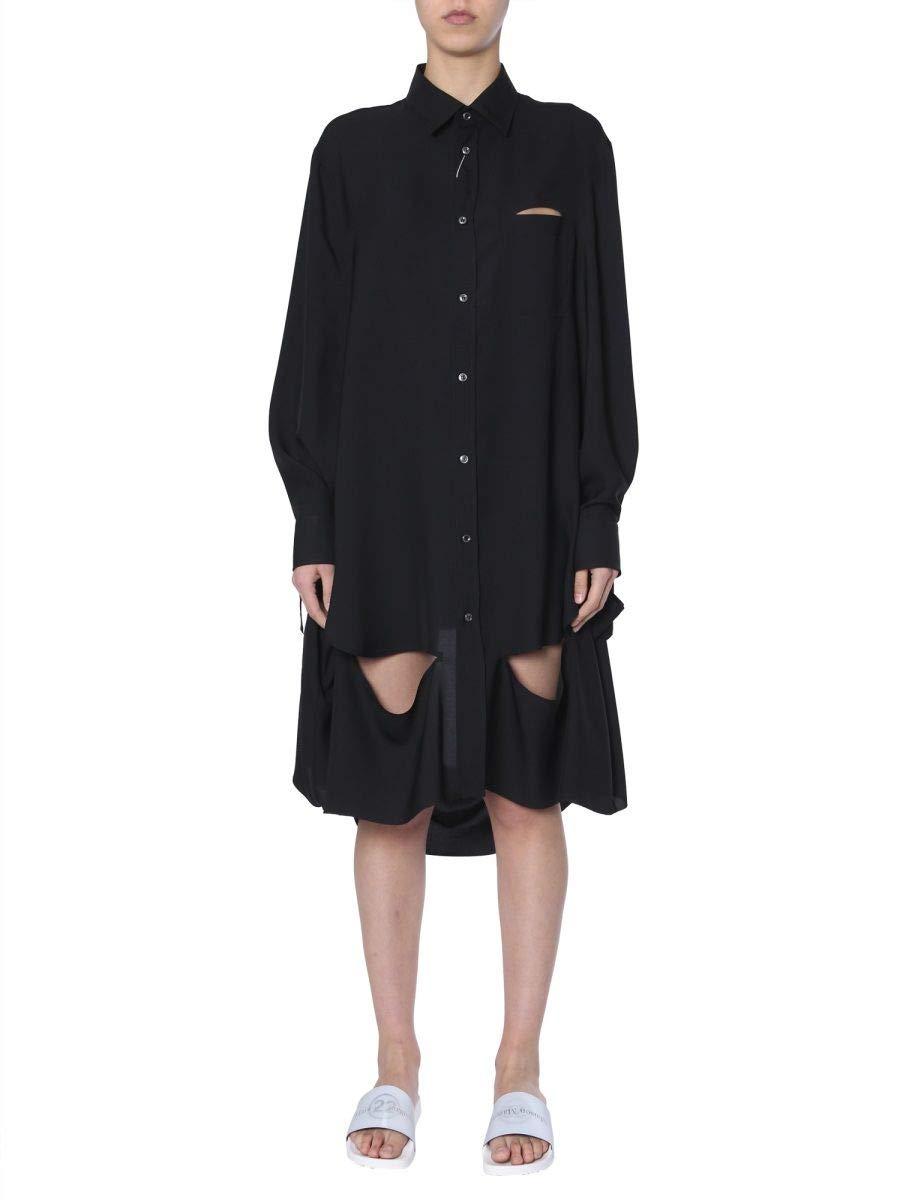 Maison Margiela Women's S29DL0141S49940900 Black Cotton Dress