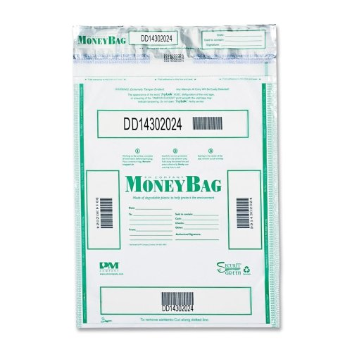 Wholesale CASE of 2 - PM Company Tamper-evident deposit bags-Tamper-Evident Deposit Bags, 20''x24'', 100/PK, Clear by PMC