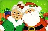 1/4 Sheet - Santa & Mrs. Claus Christmas - Edible Cake/Cupcake Topper -  B-Image 609