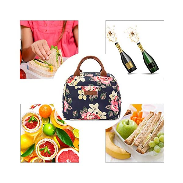 Borsa termica LOKASS per il pranzo al sacco, con rivestimento isolante a prova di perdite.Leggera per donne, ideale per… 2 spesavip