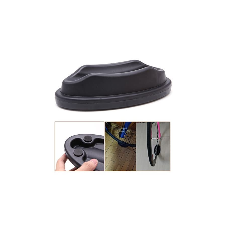 Stebcece Bicycle Bike Front Wheel Support Riser Block For Turbo Trainer Training Black
