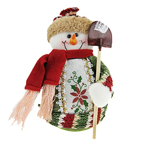 Christmas Decorations Santa Claus/Snowman/Elk Figure Plush Toy Doll Christmas Party Tree Decor Ornaments Home Indoor Table Fireplace Shelf Window Sitter Figurine Decoration Christmas Gifts Presents (Stuffed Snowman Ornaments)