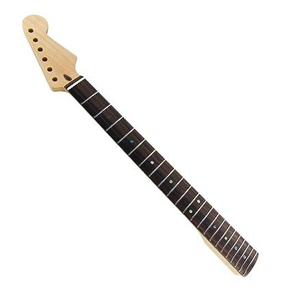 FLEOR - 1 diapasón de madera de palisandro para guitarra Fender ST Stratocaster, acabado satinado