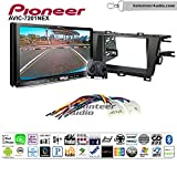 Pioneer AVIC-7201NEX Double Din Radio Install Kit with GPS Navigation Apple CarPlay Android Auto Fits 2010-2015 Non Amplified Toyota Prius