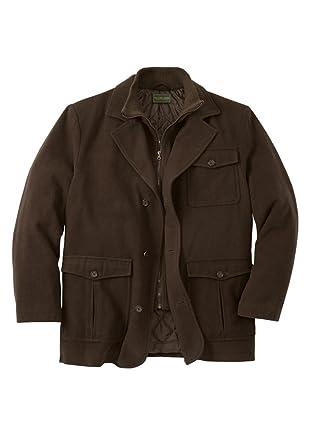 KingSize Men s Big   Tall Wool Blend Inset Jacket at Amazon Men s ... 8e7678380bc