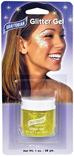 WMU 570267 1 Ounce Glitter Gel Makeup - Yellow