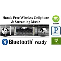 Bluetooth Enabled Stereo for 1956 Chevy Bel Air, Nomad USA-630 II High Power 300 watt AM FM Car Stereo / Radio USB, Aux, iPod inputs