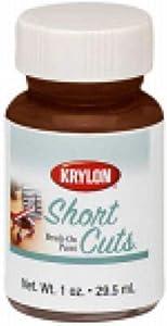 Krylon KSCB007 Short Cuts Brush-On Paint, 1-Ounce, Espresso