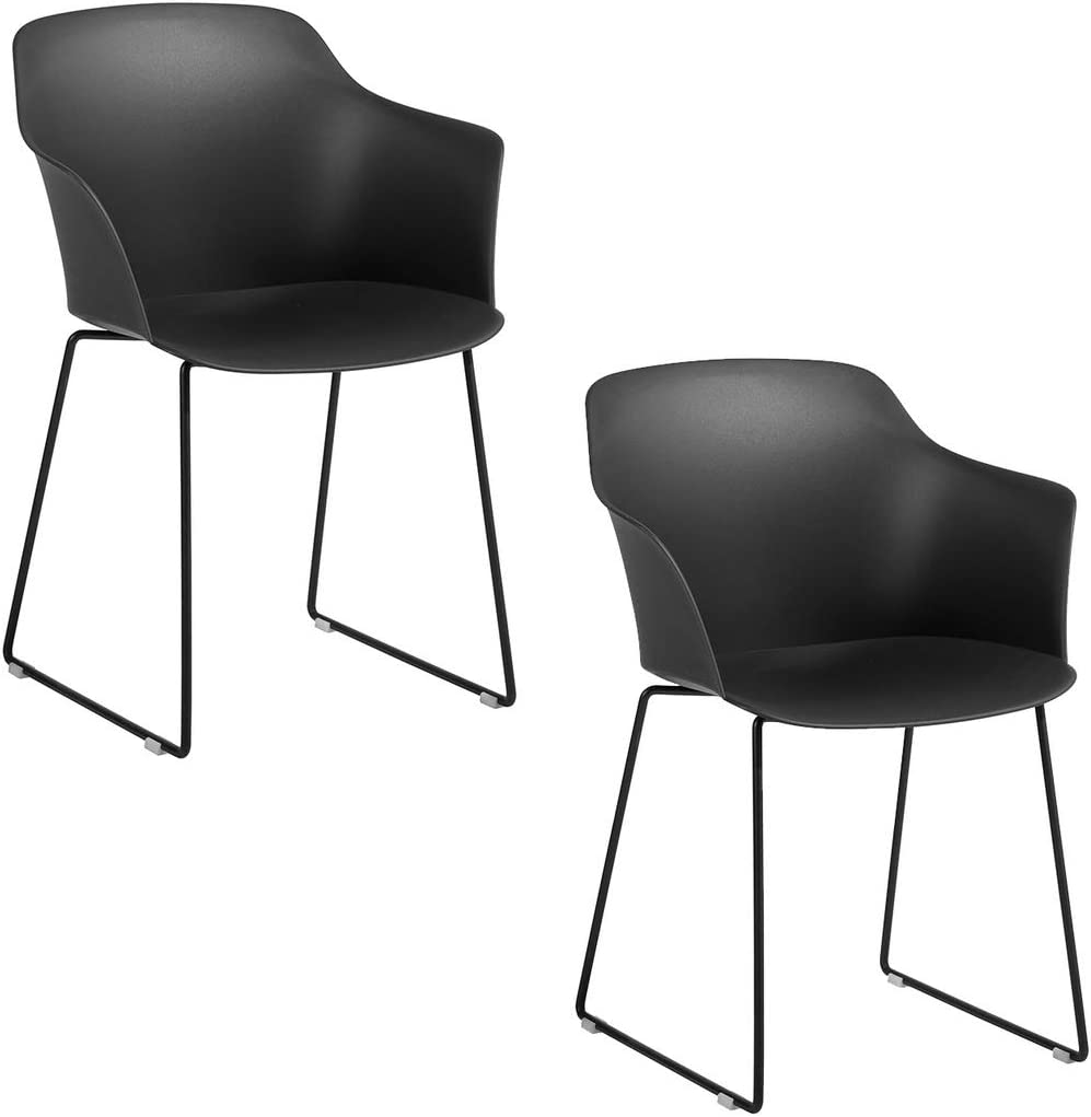 HOMY CASA Set of 10 Ergonomic Kitchen Dining Chairs PP Seat Table