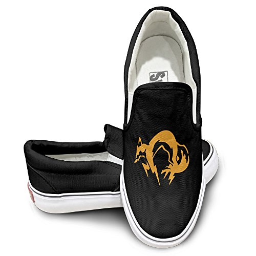 Furby Costume Amazon (MGTER66 Metal Gear Solid Fox Hound Classic Slip On Sneaker Unisex Style Color Black Size 43)