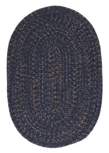 Hayward Oval Area Rug, 4 by 6-Feet, Navy