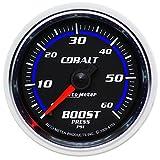 """Auto Meter 6105 Cobalt 2-1/16"""" 0-60 PSI Mechanical Boost Gauge"""