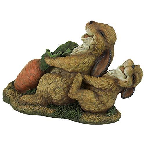 Design Toscano The Carrot Crew Rabbit Statue, Multicolored