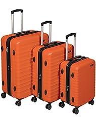 AmazonBasics Hardside Spinner Luggage - 3 Piece Set (20, 24, 28), Burnt Orange