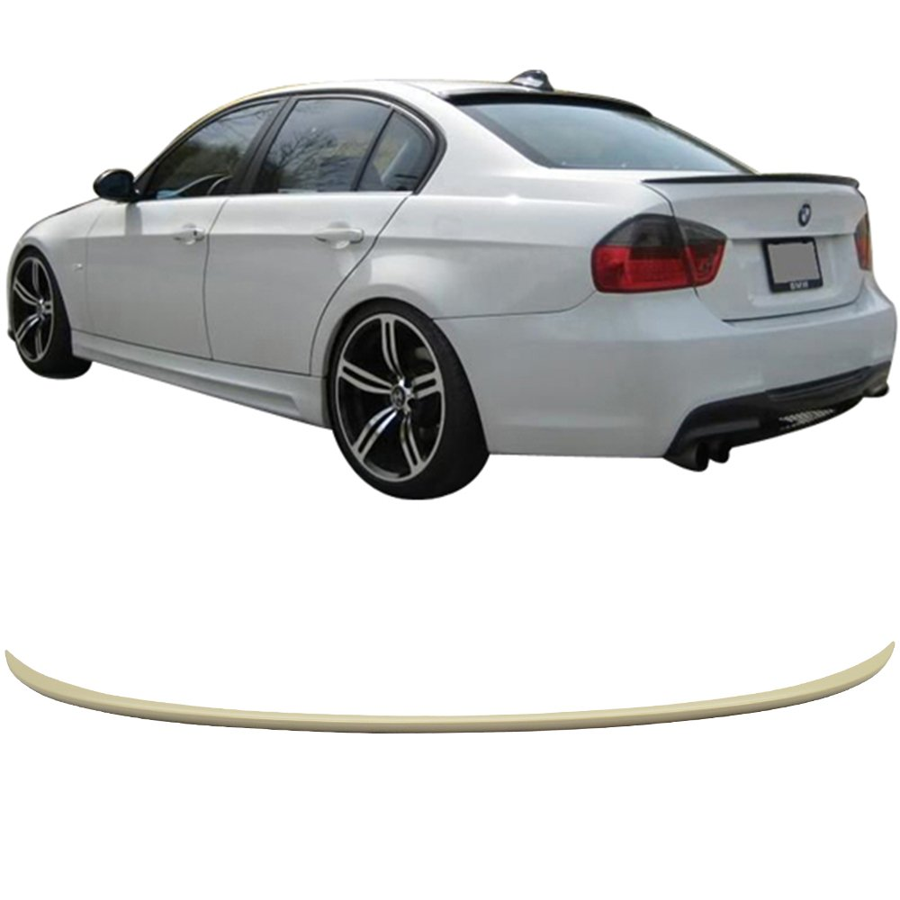 Rear Trunk Spoiler Fits 2006-2011 BMW 3-Series E90 M3 Other Color Available by IKON MOTORSPORTS Unpainted ABS
