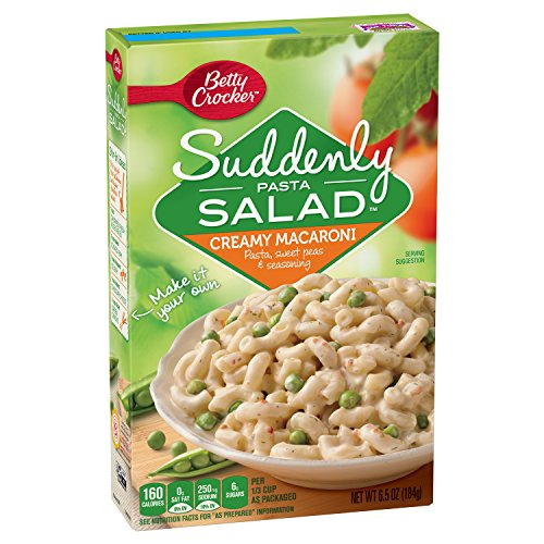 Betty Crocker Suddenly Salad Creamy Macaroni Pasta Salad Dry Meals 65 Oz Box Pack of 12
