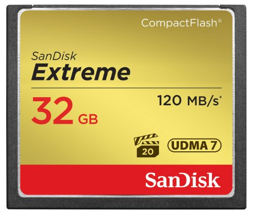 SanDisk Extreme 32GB Compact Flash Memory Card UDMA 7 Speed Up To 120MB/s- SDCFXS-032G-X46]()