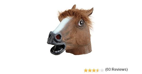 Horse Mask (máscara/careta): Bristol Novelty: Amazon.es: Juguetes y juegos