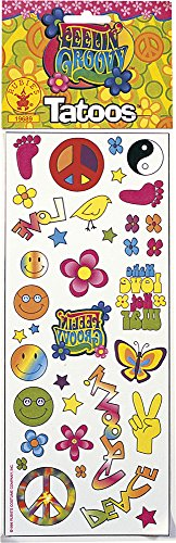 Rubie's Costume Co Feelin' Groovy Tattoos Costume (Feelin Groovy Accessory)