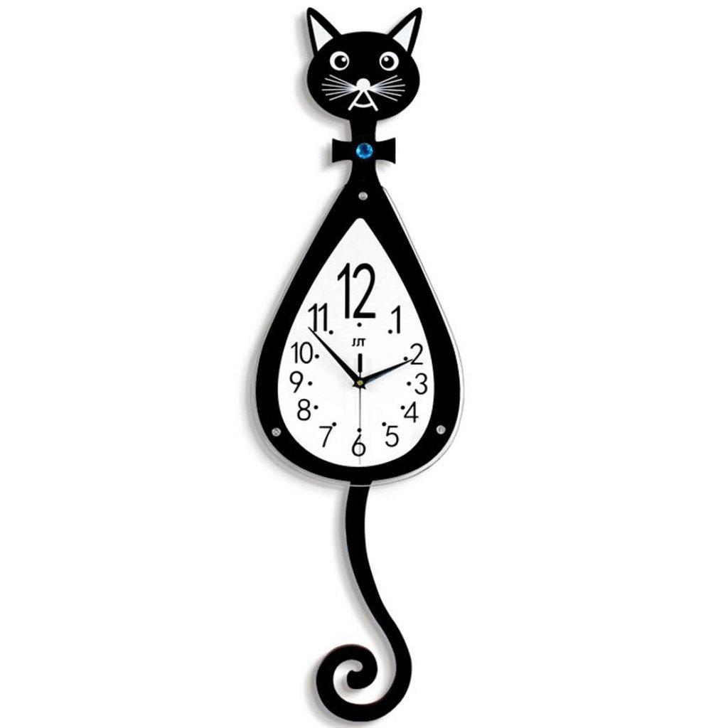 TXXM® クリエイティブウォールクロック居間現代ミニマル時計ファッション漫画猫テーブル寝室寝室ミュートヨーロッパの時計装飾 (サイズ さいず : Small) B07FHXPBHR Small Small