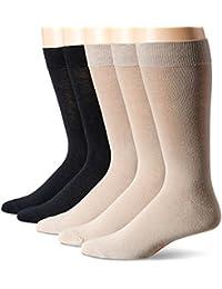 Men's 5 Pack Classics Dress Flat Knit Crew Socks