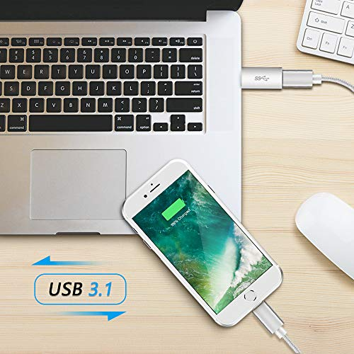 Electop USB 3.1 Type C Female to USB A Male Adapter (2 Pack), Type A to C USB 3.1 Female to USB A Female Adapter Converter Support Data Sync and Charging