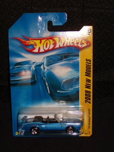 Hot Wheels 2008 029 29 New Models Blue '70 Pontiac GTO Convertable 1:64 Scale