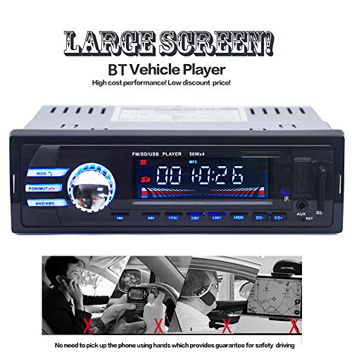 BT2018 Car Bluetooth MP3 Player Radio,Bluetooth Wireless Car Stereo Radio Audio MP3 Player in-Dash USB FM SD AUX